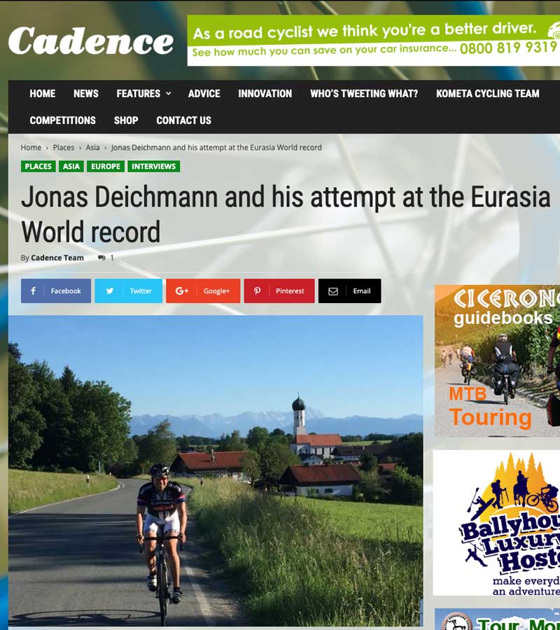 Press: Download press kit and view clippings » Jonas Deichman