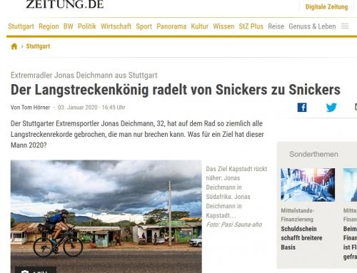 STUTTGARTER ZEITUNG: Der Langstreckenkönig radelt von Snickers zu Snickers